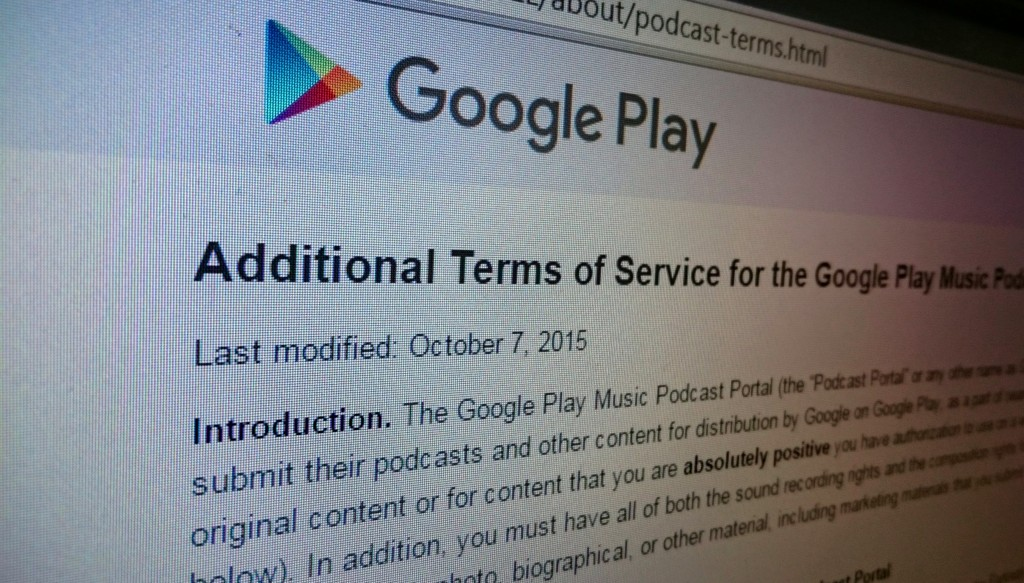 Google Play Terms of Service